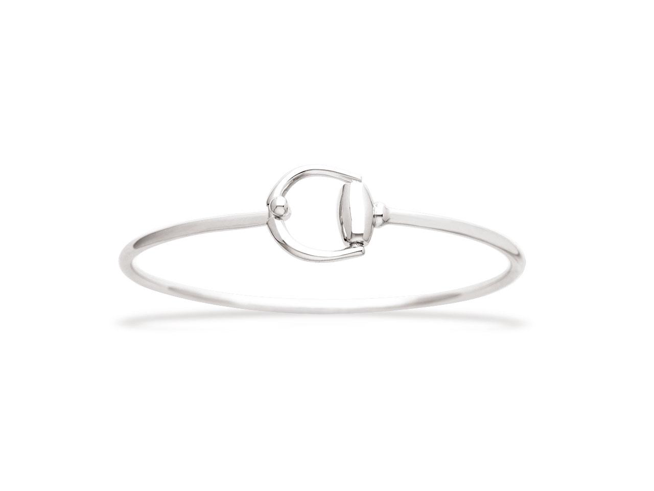 Bracelet Jonc 2,5 mm, étrier, Argent 925 rhodié