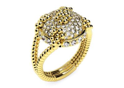 Bague Pétillante_Classique  Tradition tout diamants