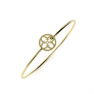 Bracelet Or Jaune 750/1000ème et brillant