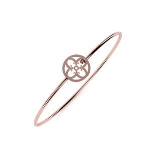Bracelet Or Rouge 750/1000ème et brillant
